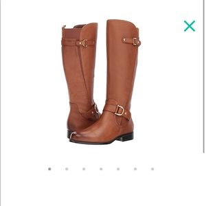 Naturalizer jenelle brown leather riding boots